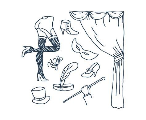 Burlesque And Cabaret Doodle Vectors Vector Graphics