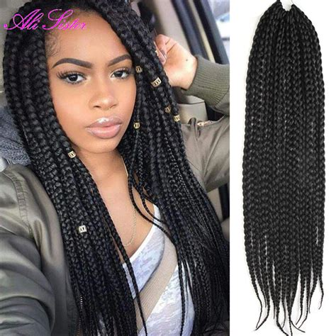 box braids hairstyle human hair or synthtic 3x box braids hair crochet braids hairstyles secret hair