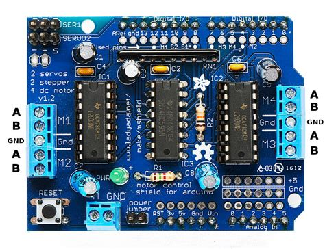 code for arduino motor shield arduino playground adafruitmotorshield