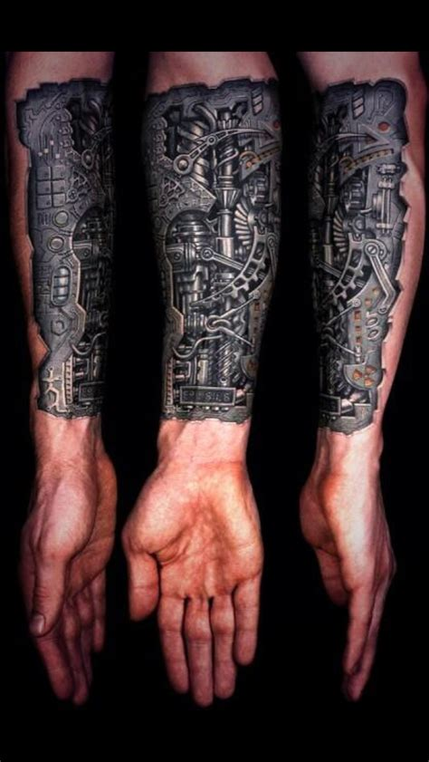 Bionic Arm Tattoo Tattoos Pinterest Bionic Arm Sleeve