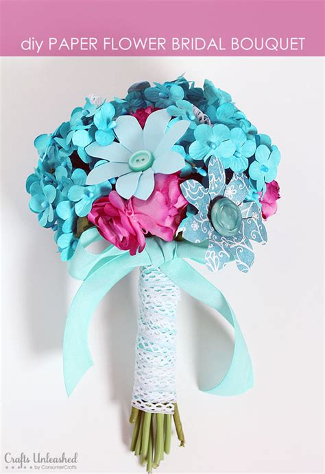 How To Make A Paper Flower Bouquet - wedding crafts and accessories crafts unleashed