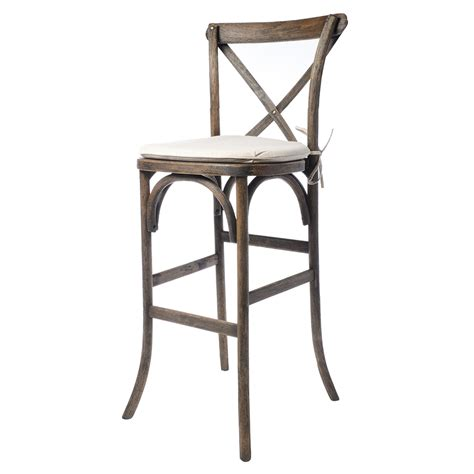 X Back Bar Stool by X Back Rustic Bar Stool Event Rents