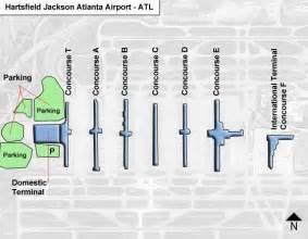 Atlanta Terminal Map by Atl Hartsfield Jackson Atlanta Airport Terminal Maps