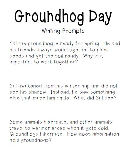 groundhog day journal prompts simply centers free groundhog day writing