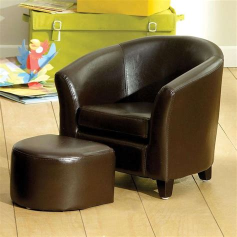 childrens faux leather armchair childrens pink leather chair and footstool chair design