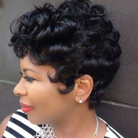 pin curls on a bob top 25 short curly hairstyles for black women