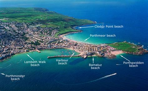 map uk beaches st ives map simply st ives cornwall
