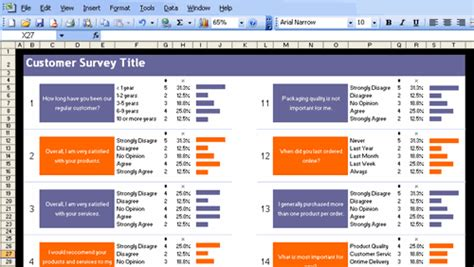 survey template exles excel customer survey template