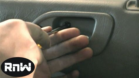 How To Remove The Interior Door Panel For A Car by How To Remove The Rear Door Panel And The Interior Door