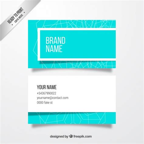 pale blue business card template free light blue business card vector free