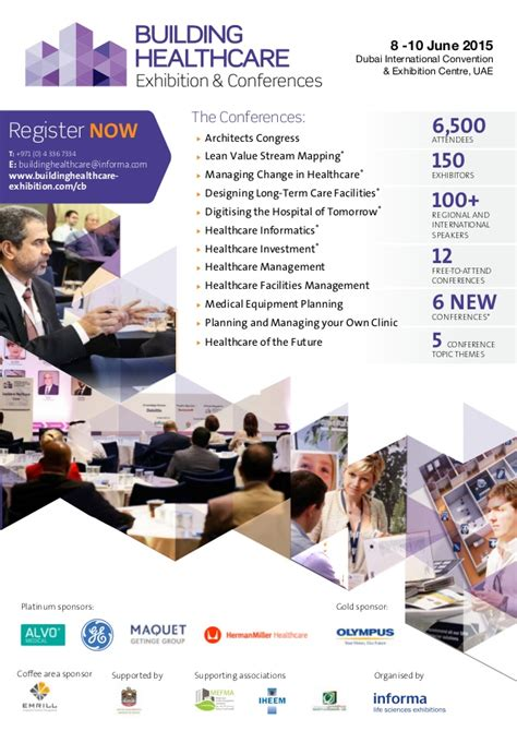 Mba In Healthcare Management In Dubai by Building Healthcare Middle East Conference Brochure 2015