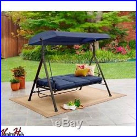 metal porch swing bed with canopy outdoor patio rocker