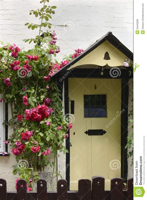Country Cottage Front Doors by Country Cottage Avebury Stock Photo