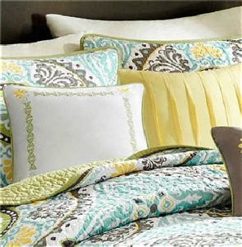 yellow and teal bedding 6 piece king green teal brown yellow global medallion