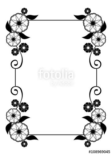 Wedding Flowers Clip Black And White by Wedding Flower Frame Clipart Black And White