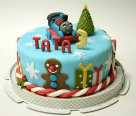 thomas the train birthday cake for 3 year old with christmas theme jpg