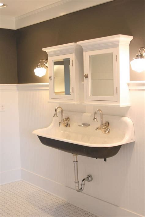 dual sinks small bathroom double trough sink for bathroom how to choose the best
