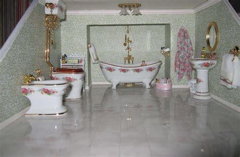 edwardian bathroom wallpaper  decoration idea