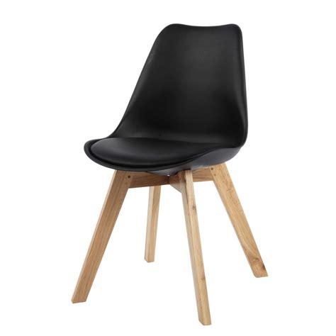 Stuhl Kunststoff by Stuhl Aus Kunststoff Und Eiche Schwarz Maisons
