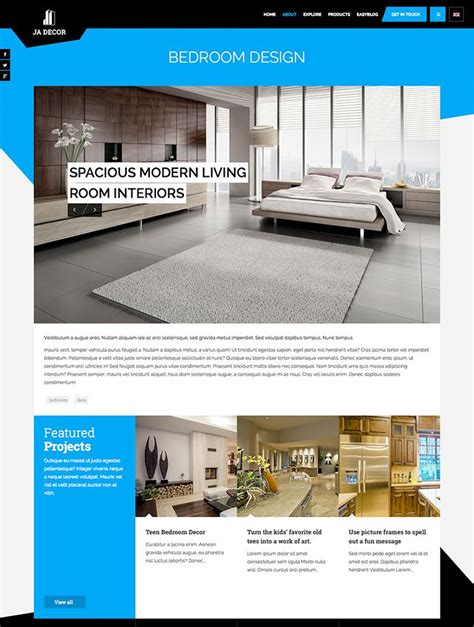 joomla article design layout review responsive joomla template for interior design