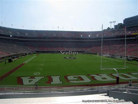 sanford stadium student section section 142 rateyourseats com