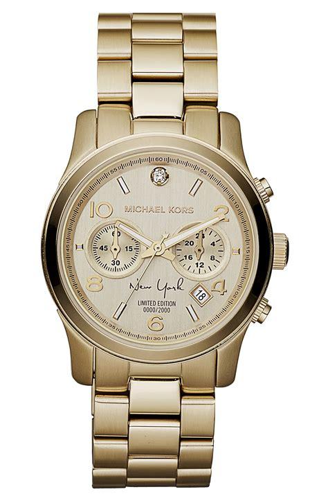 M Hael Kors New York Gold michael michael kors runway new york chronograph bracelet