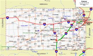 State Map Of Kansas by Online Maps Kansas Map With Cities