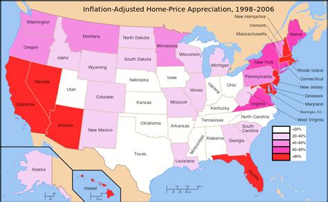 lowest housing prices in usa file usa home appreciation 1998 2006 svg wikimedia commons
