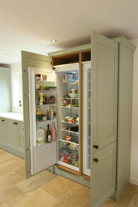 Corner Kitchen Cabinet Storage Ideas by Jefferson Sage Integrated Larder Fridge And Freezer