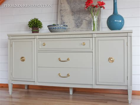 Custom Gray Dresser   General Finishes Design Center
