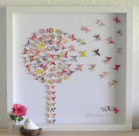 How To Make Prints On Paper - make a wish dandelion paper butterfly 3d framed gift