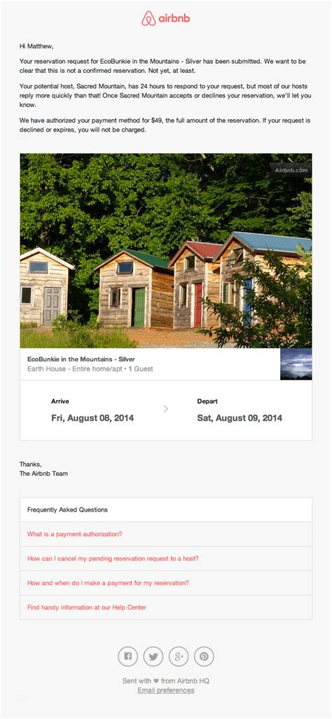Reservation Receipt Email Design From Airbnb Really Good Emails Airbnb Receipt Template