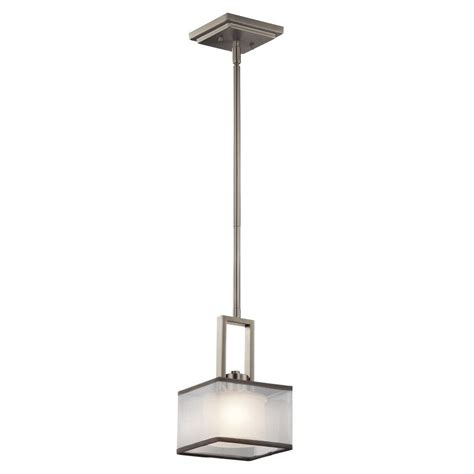 Wide Pendant Light Kichler 43442ni Kailey Contemporary Brushed Nickel Finish 6 Quot Wide Halogen Mini Hanging Pendant