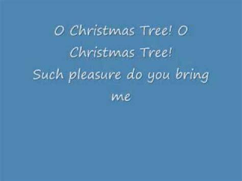 o christmas tree with lyrics youtube