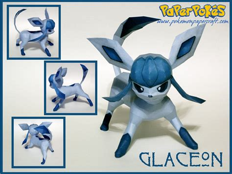 Glaceon Papercraft - paperpok 233 s pok 233 mon papercraft glaceon
