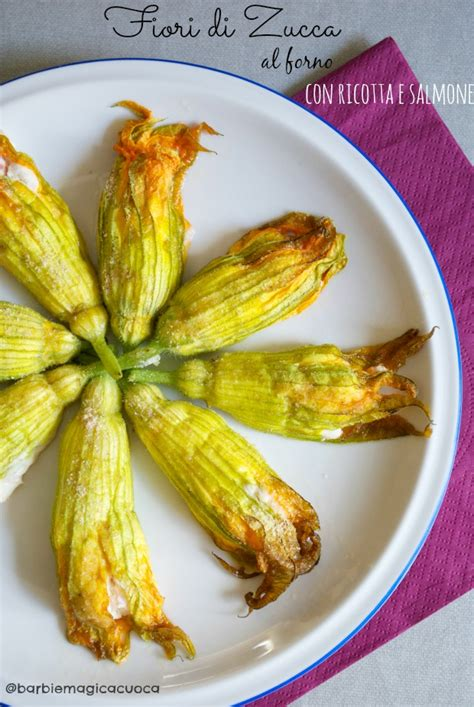 fiori di zucca con ricotta al forno fiori di zucca al forno ripieni di ricotta e salmone