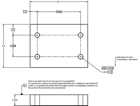 hole pattern drawing question about specifying a position tolerance on a hole