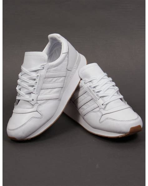 adidas zx 500 og leather trainers white white originals shoes mens