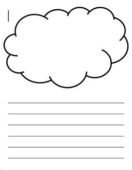 cloud writing paper cloud and sun writing template by monkey tpt