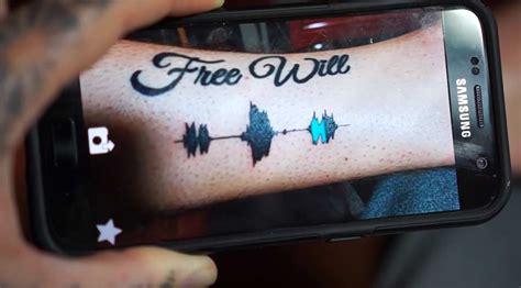 abspielbare audiowellen tattoos