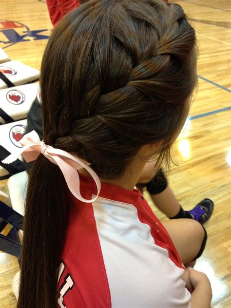 volleyball hairstyles braids cute volleyball hair my fashionn style pinterest