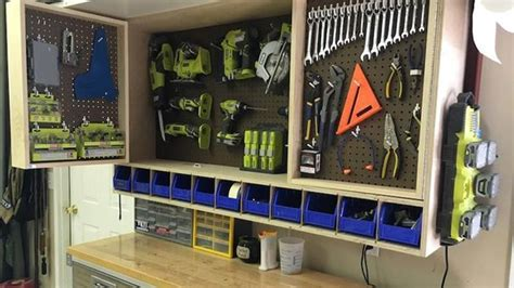 garage remodel design tools make a fold out space saving tool storage cabinet for your garage or workshop lifehacker