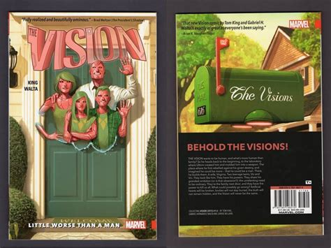 vision vol 1 little vision vol 1 tpb little worse than a man 2016 tom king marvel 1st print nm mt comics for sale