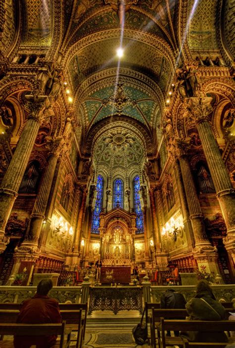 Notre Dame Cathedral Interior by Photo Of The Moment Inside Notre Dame Lyon Vagabondish