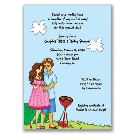 couples baby shower invitation wording ideas theruntime