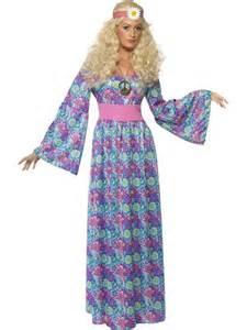 Flower Dress Costume 60s 70s Hippy Flower Power Child Fancy Dress