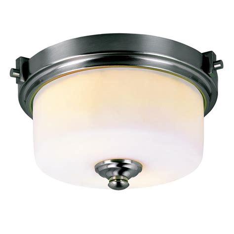 collin 2 light flush mount bel air lighting cabernet collection 2 light brushed