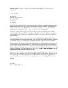 Cover Letter Exles Business by Business Plan Cover Letter Sle Cover Letters