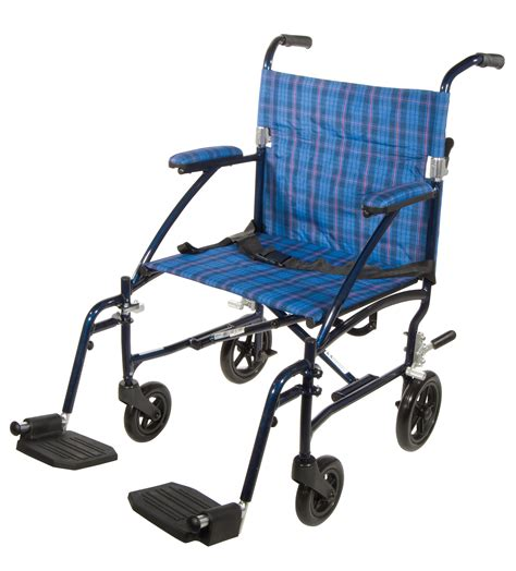 aluminum transport chair black