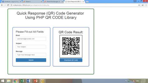 membuat qr code php source code qr code menggunakan php qr code library